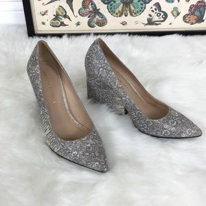 Snakeskin pumps with a gorgeous block heel